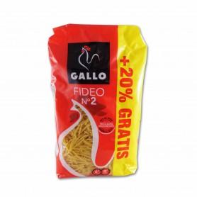 Gallo Pasta Fideo Nº 2 - 500g + 20% Gratis
