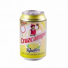 Cruzcampo Cerveza Radler con Zumo Natural de Limón - 33cl
