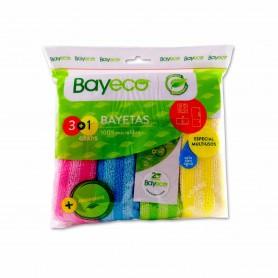 Bayeco Bayetas Especial Microfibra Multiusos - (3 Unidades) + 1 Gratis
