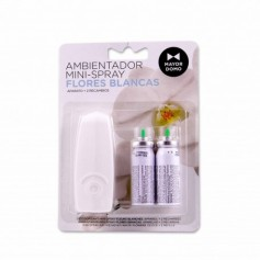 Mayordomo Ambientador Mini - Spray Flores Blancas - (2 Recambios) - 24ml