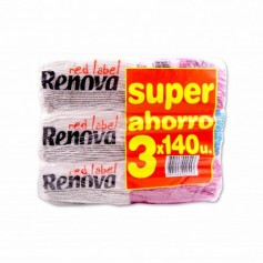 Renova Servilletas Red Label1 Capa - 3 Paquetes - (420 Unidades)