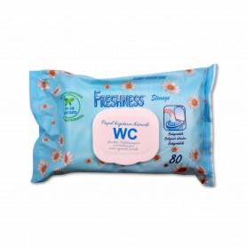 Freshness Papel Higiénico Húmedo WC - (80 Unidades)