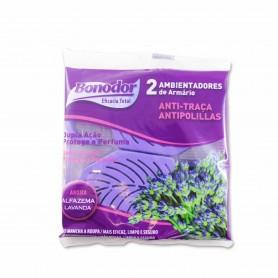 Bonodor Ambientador de Armarios Antipolillas Aroma Lavanda - (2 Unidades) - 30g