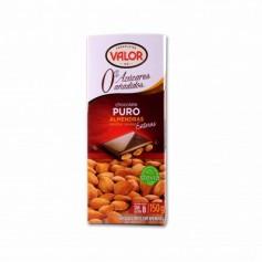 Valor Chocolate Puro y Stevia con Almendras Enteras - 150g