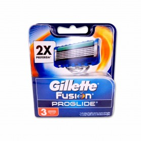 Gillette Cabezales de Recambio Fusion Proglide - (3 Unidades)