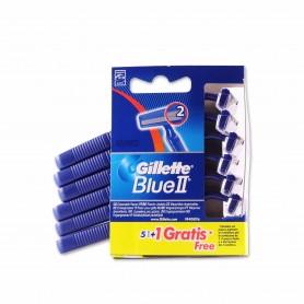 Gillette Blue II Maquinillas de Afeitar Desechables - (5 Unidades) + 1 Unidad Gratis