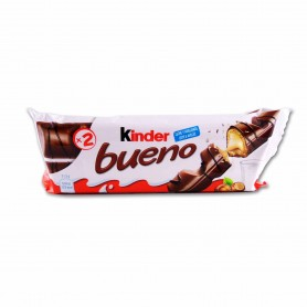 Kinder Bueno Barritas Crujientes de Chocolate y Avellanas - (3 Unidades) - 129g