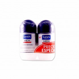 Sanex Men Desodorante Dermo Invisible  - (2 Unidades) - 100ml