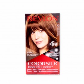 Revlon Tinte Colorsilk 43 Castaño Medio Dorado - 130ml