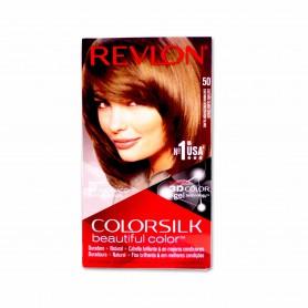 Revlon Tinte Colorsilk 50 Castaño Claro Cenizo - 130ml