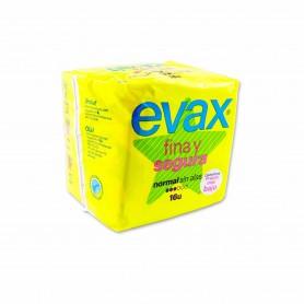 Evax Compresas Fina Y Segura Normal sin Alas - (16 Unidades)