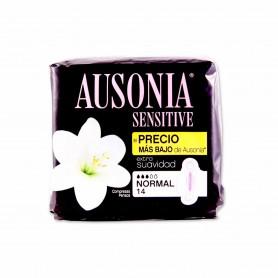Ausonia Compresas Sensitive Normal con Alas - (14 Unidades)