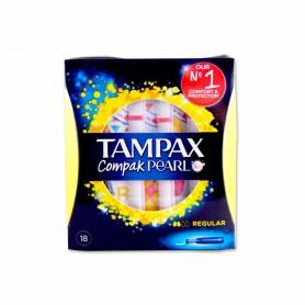Tampax Compak Pearl Tampones Regular - (18 Unidades)