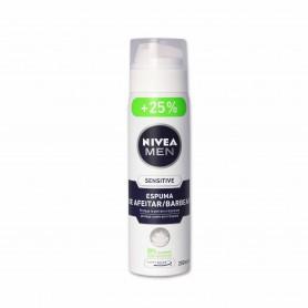 Nivea Men Espuma de Afeitar Sensitive - 200ml + 25% Gratis