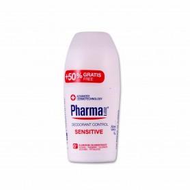 Pharma Line Desodorante Sensitive Pieles Sensibles Aloe Vera - 50ml + 50% Gratis
