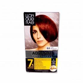 Llongueras Tinte Advance Profesional 6.6 Caoba Rojo Intenso - 146,5ml