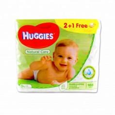 Huggies Toallitas Infantiles Natural Care con Aloe Vera - (168 Unidades) - 2 Paquetes + 1 Paquete Gratis