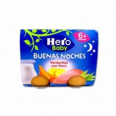 Hero Baby Potitos Buenas Noches Verduritas con Pavo - (2 Unidades) - 380g