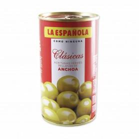 La Española Aceitunas Rellenas de Anchoa - 350g