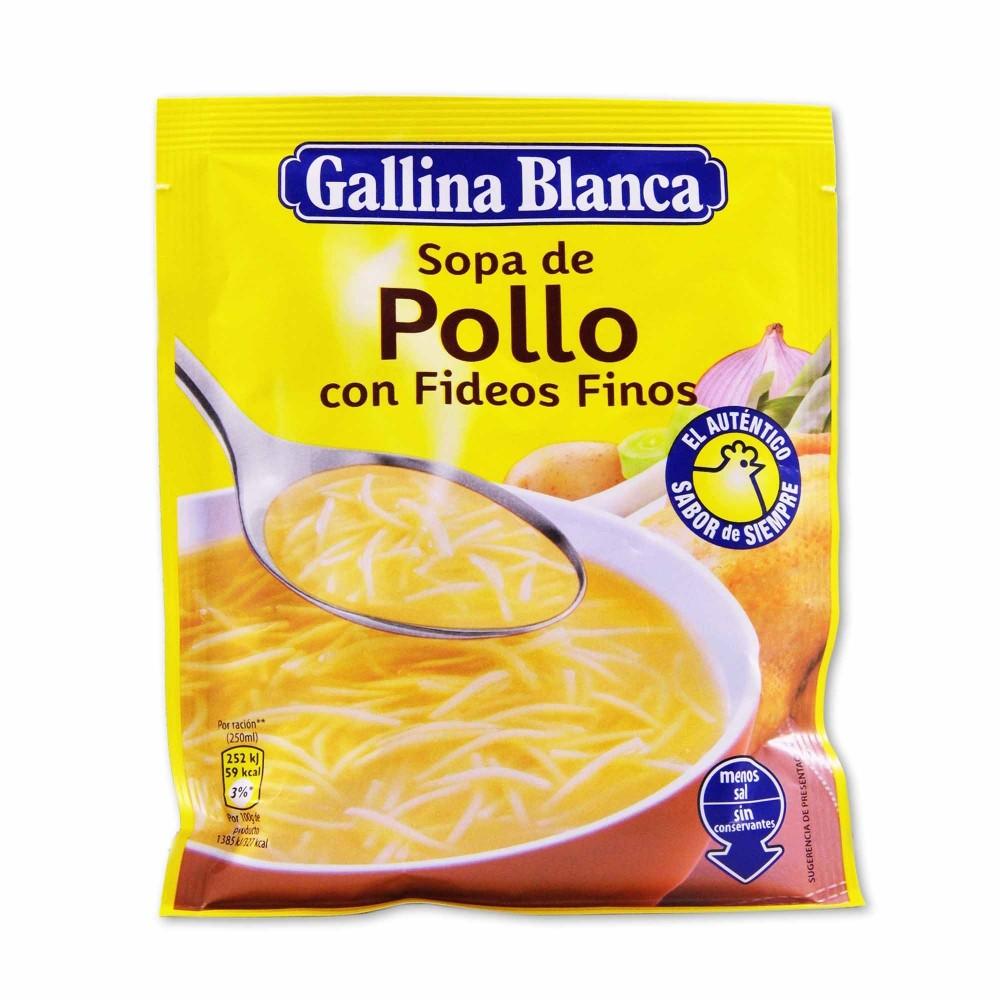 Gallina Blanca Sopa De Pollo Con Fideos Finos 71g Cestaclick Es