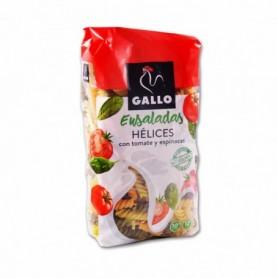 Gallo Pasta de Hélicescon Tomate y Espinacas para Ensaladas - 500g