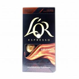 L´OR Espresso Café Colombia Andes - (10 Cápsulas Compatibles con Cafeteras Nespresso) - 52g