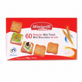 Minigrill Mini Biscottes de Trigo - 120g