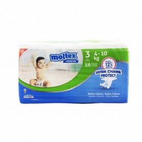 Moltex Premium Pañales Infantiles Transpirables con Aloe Vera Talla 3 (4-10kg) - 56 Pañales