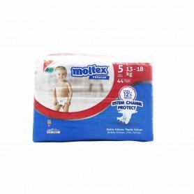 Moltex Premium Pañales Infantiles Transpirables con Aloe Vera Talla 5 (13-18kg) - 44 Pañales