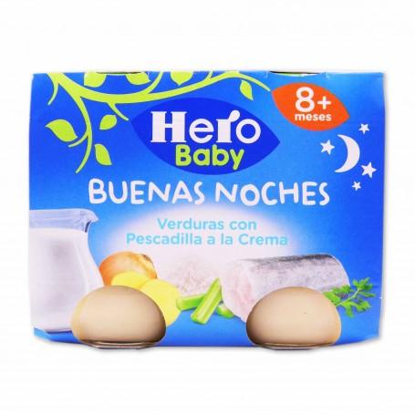 Hero Baby Potito Buenas Noches Verduras con Pescadilla a la Crema - (2 Unidades) - 380g