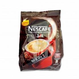 Nescafé Café con Leche y Azúcar 3 en 1 - (10 Sobres) - 180g