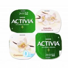 Danone Activia Yogur con Bifidus Naturales Cremoso con Vainilla de Madagascar - (4 Unidades) - 480g