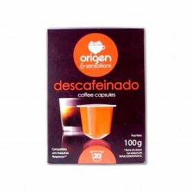 Origen & SensationsCafé Descafeinado - (20 Cápsulas Nespresso Compatible) - 100g