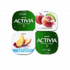 Danone Activia Yogur Desnatado con Bifidus Naturales y Melocotón - (4 Unidades) - 500g