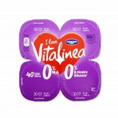Danone Vitalinea Yogur Sabor a Fresa - (4 Unidades) - 500g
