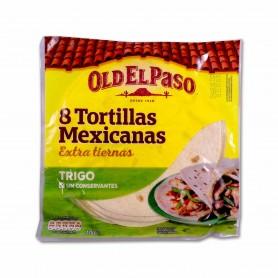 Old El Paso Tortillas Mexicanas de Trigo - (8 Unidades) - 326g