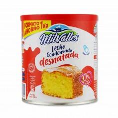 MilValles Leche Condensada Desnatada - 1000g