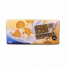 Clavileño Chocolate Blanco con Galleta María - 80g