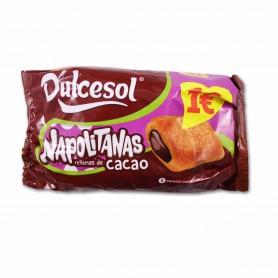 Dulcesol Napolitanas Rellenas de Cacao - (5 Unidades) - 200g