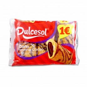 Dulcesol Caña Rellena de Cacao - (3 Unidades) - 210g