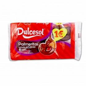 Dulcesol Palmeritas Bañadas de Cacao - (10 Unidades) - 165g