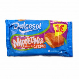 Dulcesol Napolitanas Rellenas de Crema - (5 Unidades) - 200g