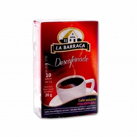 La Barraca Café Soluble Descafeinado - (10 Sobres) - 20g