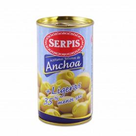 Serpis Aceitunas Rellenas de Anchoa+ Ligeras- 350g