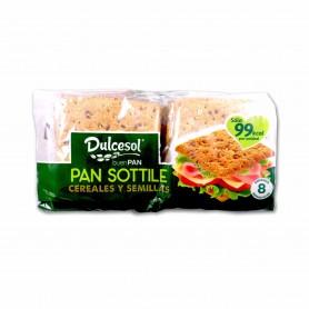 Dulcesol Pan Sottile Cereales y Semillas - (8 Unidades) - 310g